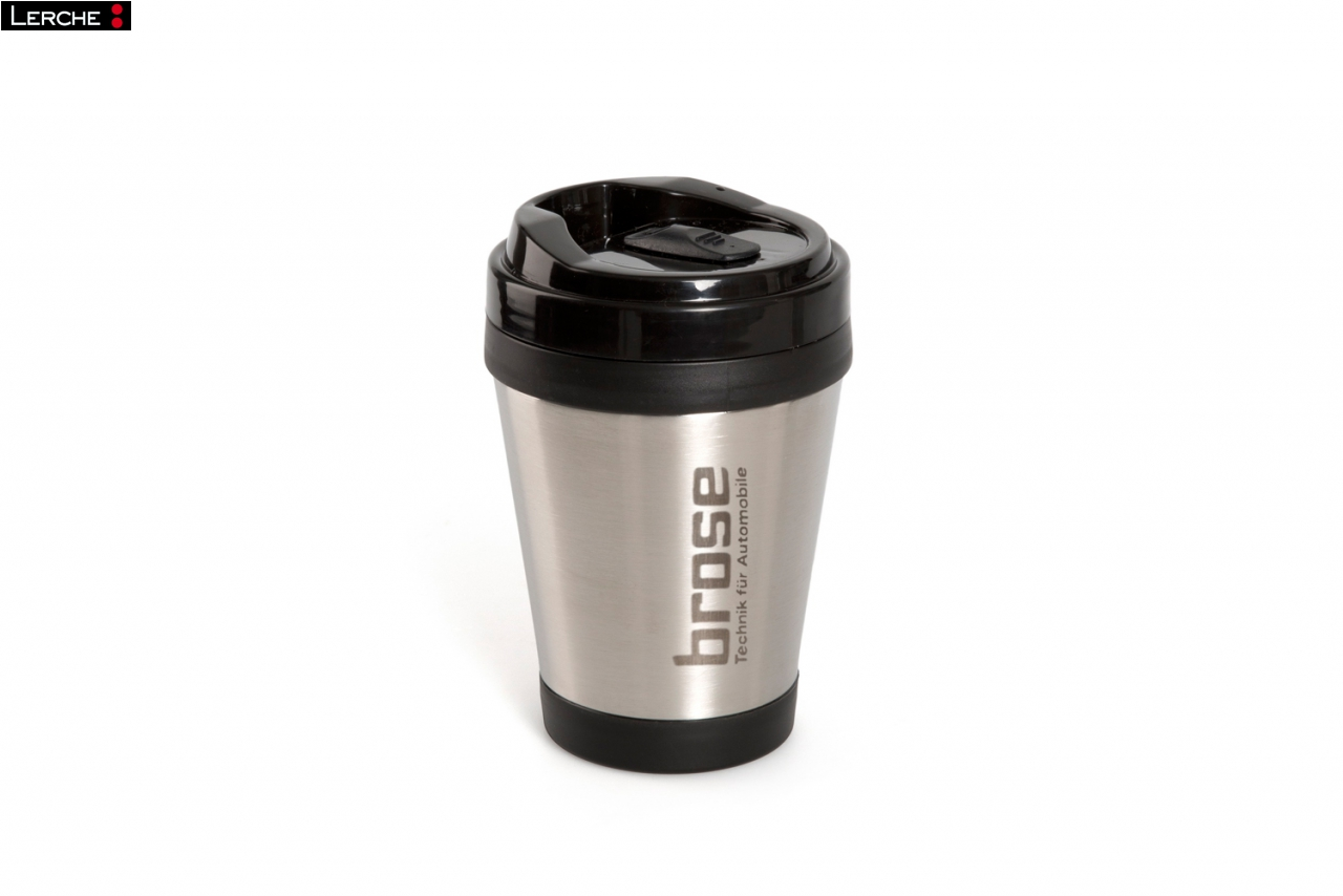coffee to go becher doppelwandig aus edelstahl mit individueller lasergravur lerche. Black Bedroom Furniture Sets. Home Design Ideas