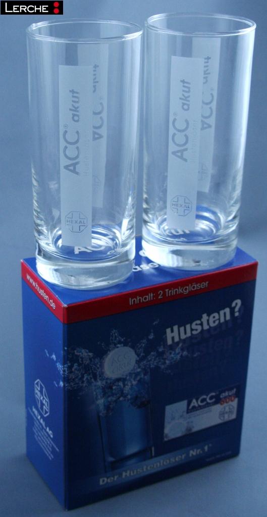 werbemittel abgabeartikel pharma bedrucktes glas mit. Black Bedroom Furniture Sets. Home Design Ideas