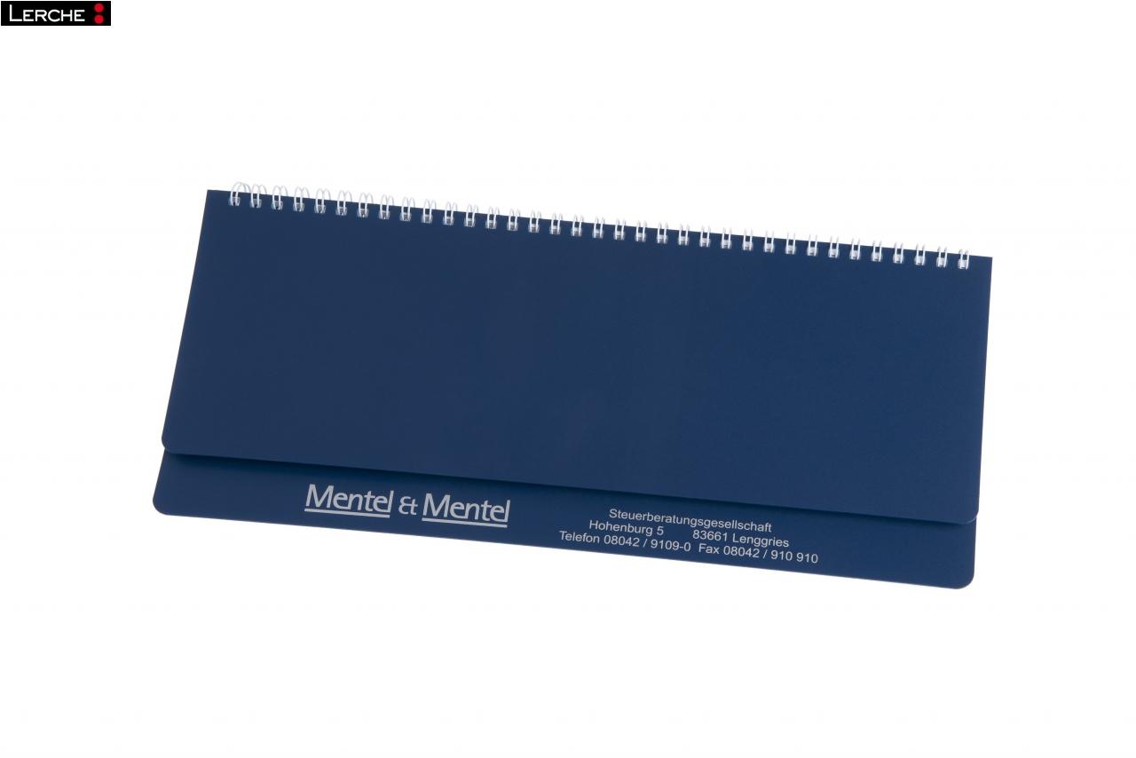 Individueller querkalender bedruckt mit spiralbindung for Schreibtisch querkalender