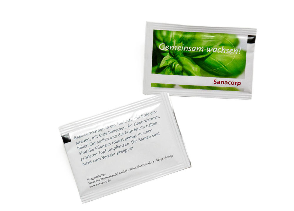 Brief Für Zahlungsaufschub : Bedrucktes samen briefchen basilikum mit firmenwerbung für