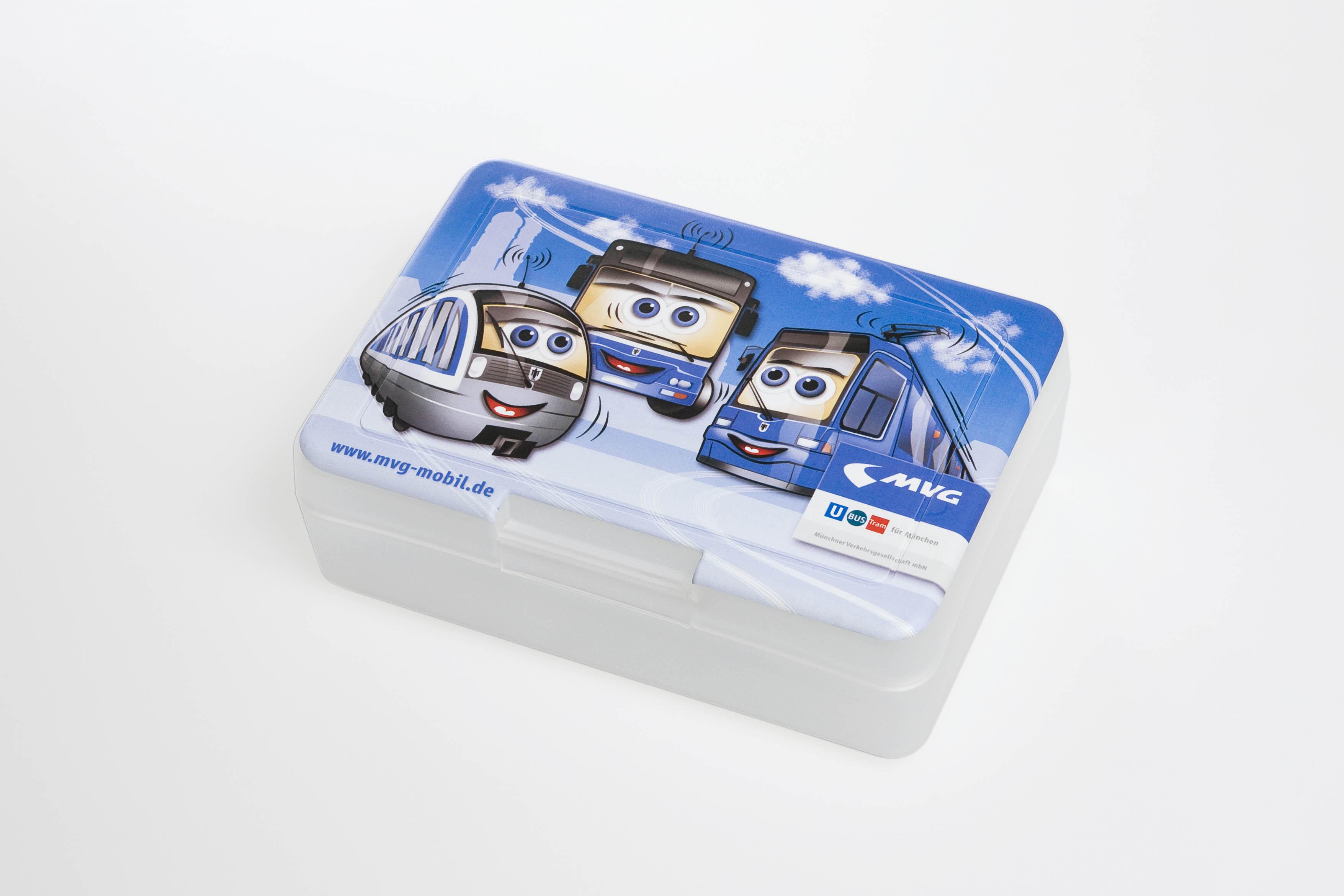 Brotzeitbox iMould-bedruckt für große und kleine Fahrgäste