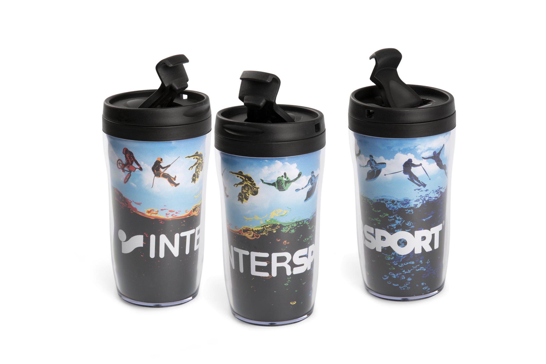 Coffee To Go Becher Mit Bedruckten Papiereinleger Für Intersport