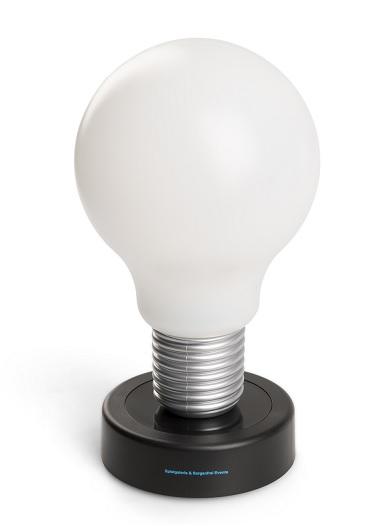 drucklampe wei in gl hbirnenform mit werbeaufdruck lerche werbemittel. Black Bedroom Furniture Sets. Home Design Ideas
