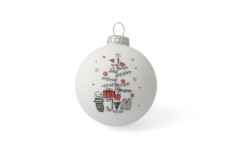 Individuell bedruckbare Weihnachts- oder Christbaumkugeln mit Ihrem ...