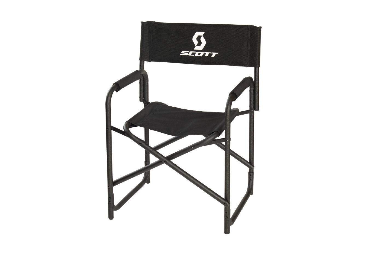passend zur campingsaison bequemer bedruckter regiestuhl f r die scott sports ag garching. Black Bedroom Furniture Sets. Home Design Ideas