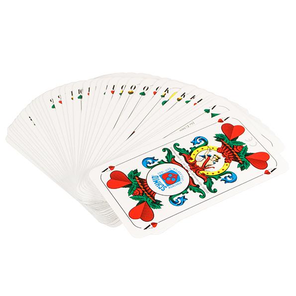 Zünftig: Spielkarten Schafkopf/Tarock bedruckt mit individuellem ...