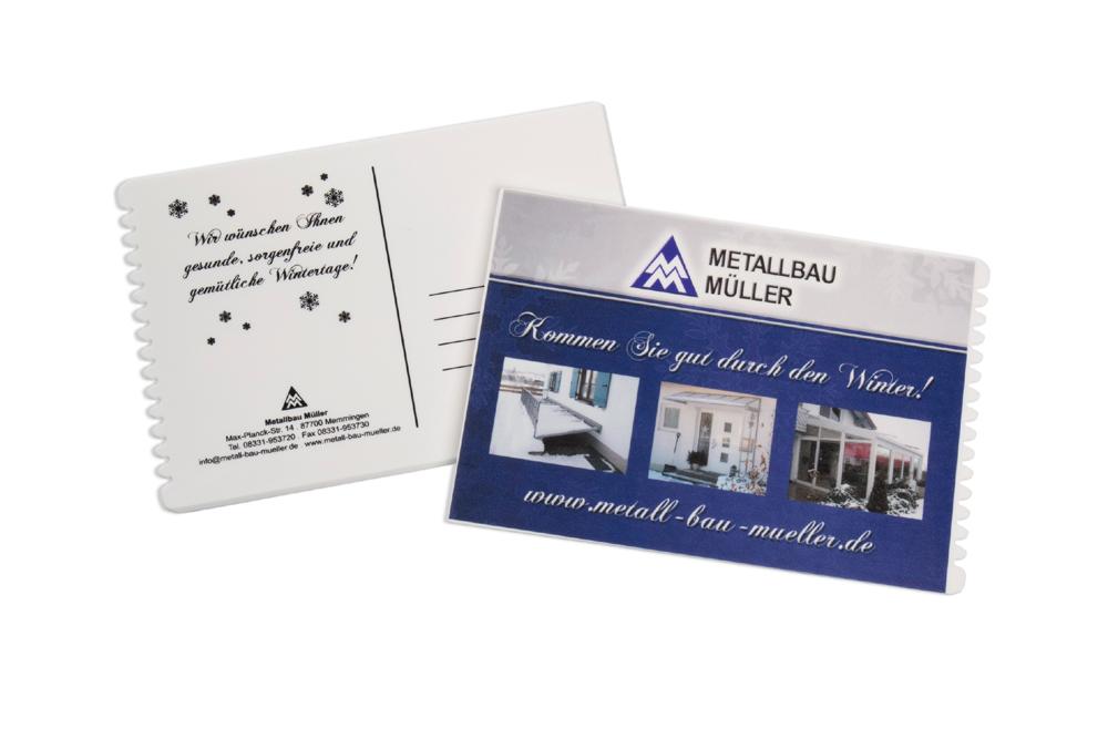 Weihnachtskarte bedruckter eiskratzer als postkarte f r for Trendige hotels