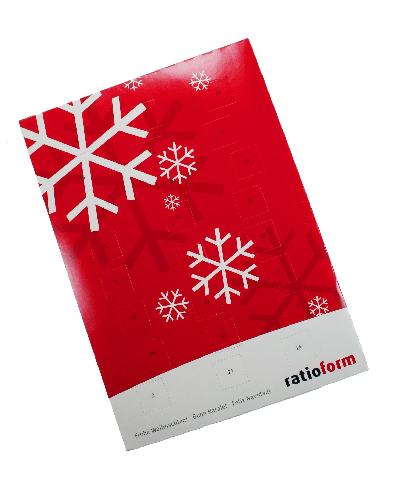 werbemittel weihnachten wand adventskalender mit. Black Bedroom Furniture Sets. Home Design Ideas