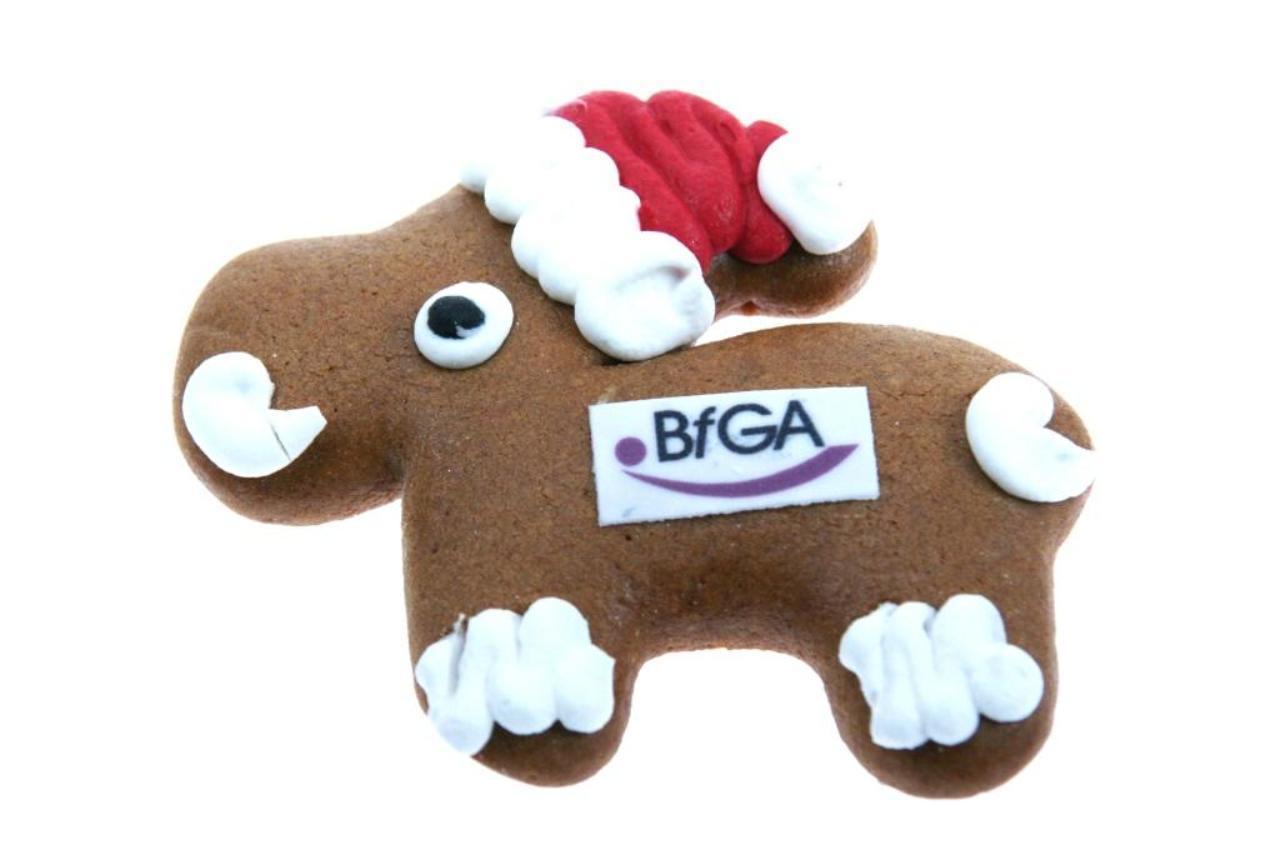 Werbeartikel Weihnachten.Echt Tierisch Lebkuchenelch Mit Firmenlogo Als Werbemittel